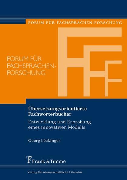 Übersetzungsorientierte Fachwörterbücher