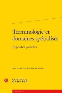 Terminologie et domaines spécialisés