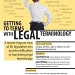 Stay tuned: Seminar on legal terminology on the 29th November!