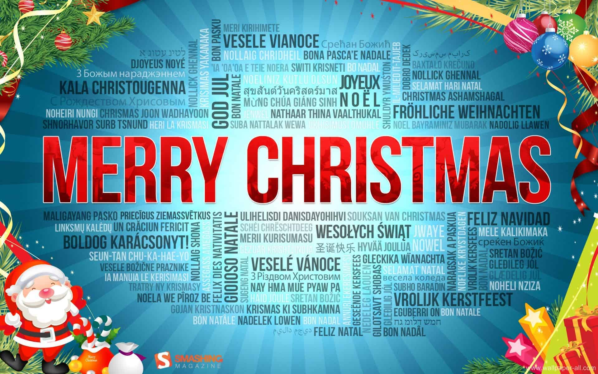 merry christmas and happy new year in many languages terminology