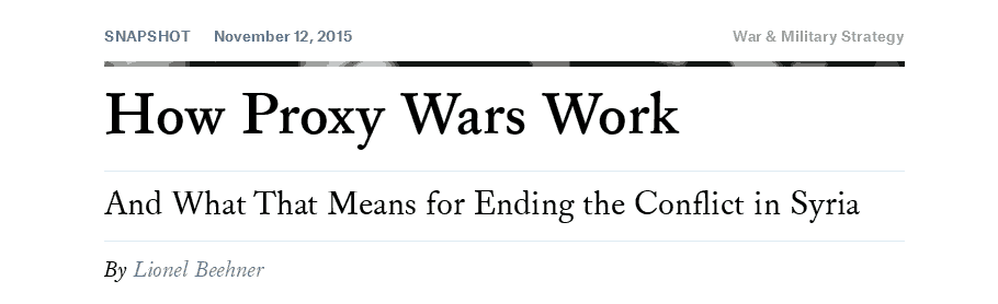 Proxy war article