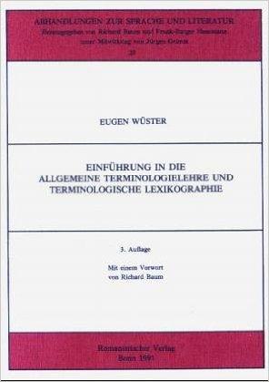 Einführung in die allgemeine Terminologielehre und terminologische Lexikographie