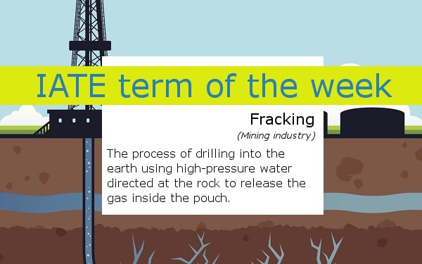 IATE term of the week - fracking