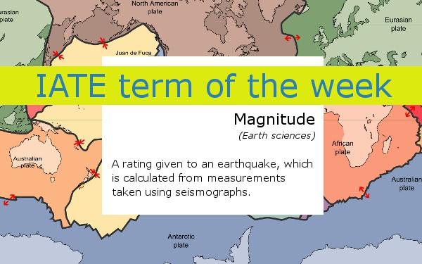 IATE termoftheweek Magnitude
