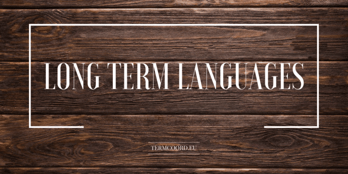 Long term languages 3