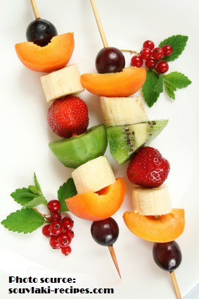 Fruits on a stick - delicious and healthy dessert