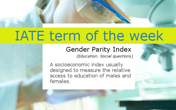 IATE_Gender Parity Index term