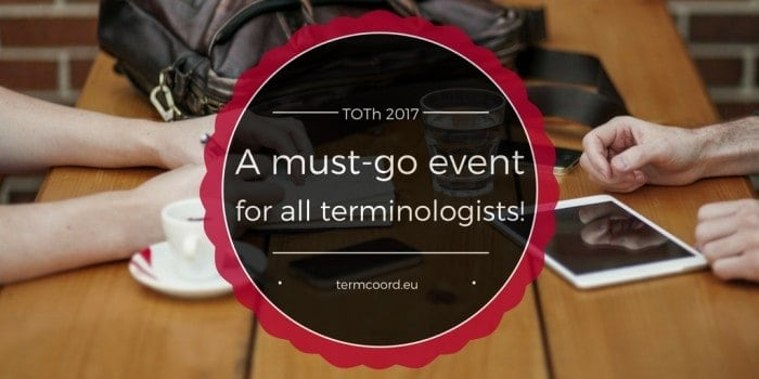 TOTh 2017 termcoord terminology