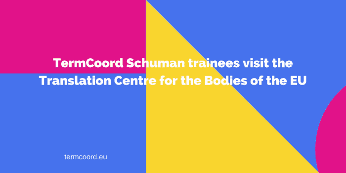 TermCoord Schuman trainees visit the Translation Centre for the Bodies of the EU