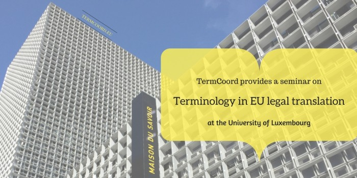 TermCoord's Seminar on Legal Translation