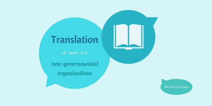 Translation of texts for NGOs