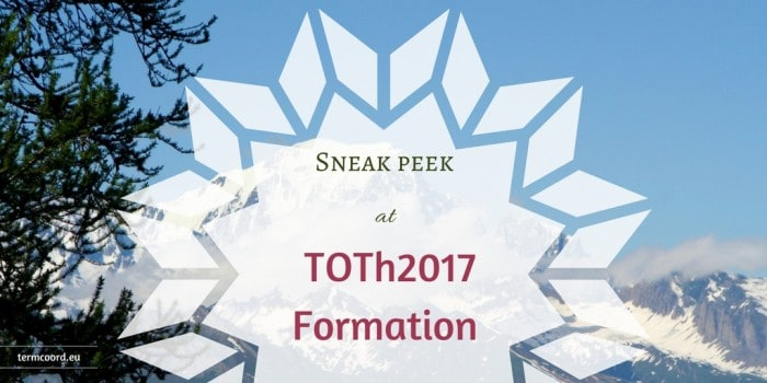 Sneak peek at TOTh2017 Formation