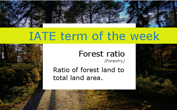 IATE Term of the Week Forest ratio banner