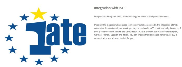 Screenshot Interpretbank IATE