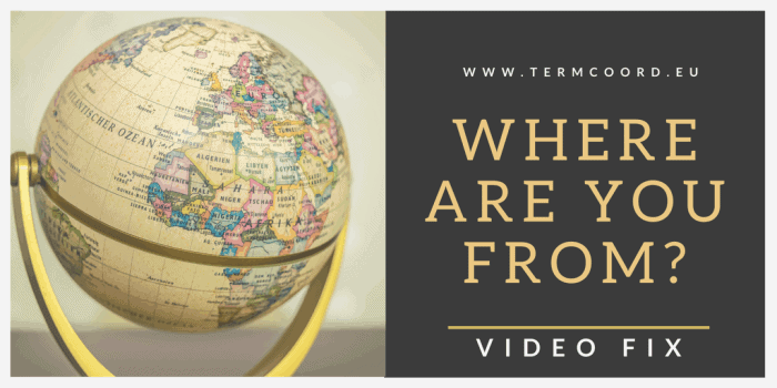 World Globe - Where are you from? - Video Fix banner