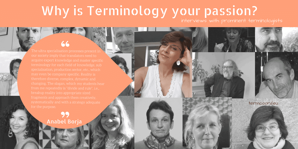 Why is Terminology your passion? banner featuring Anabel Borja