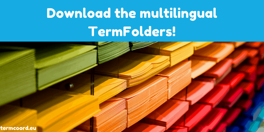 Download the multilingual TermFolders banner - Multi Coloured Folders Piled Up