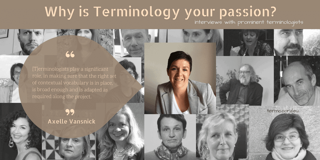Why is Terminology your passion? banner - Photo of Axelle Vansnick