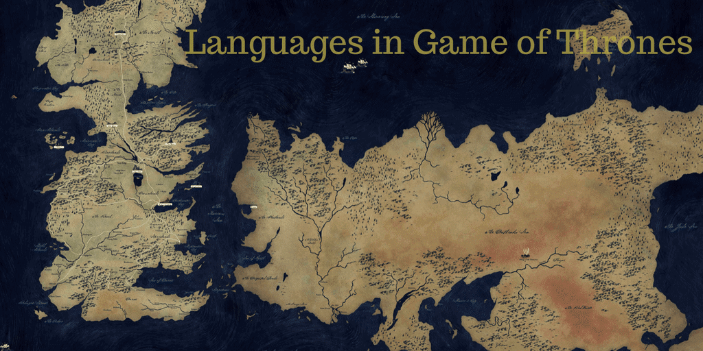 Languages in Game of Thrones banner - Map of the continents