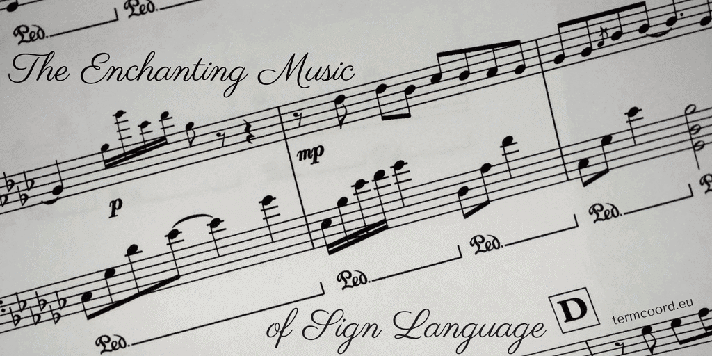 The Enchanting Music of Sign Language banner - Music sheet