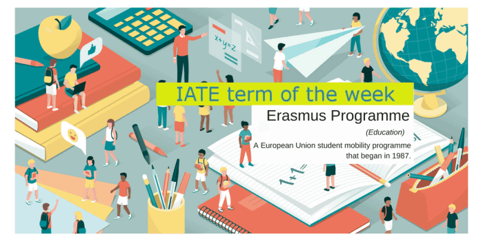 Term of the week banner, Erasmus