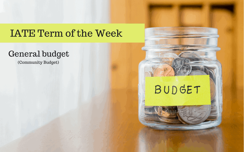 IATE Term of the Week- budget