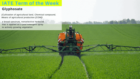 Term of the week - glyphosate