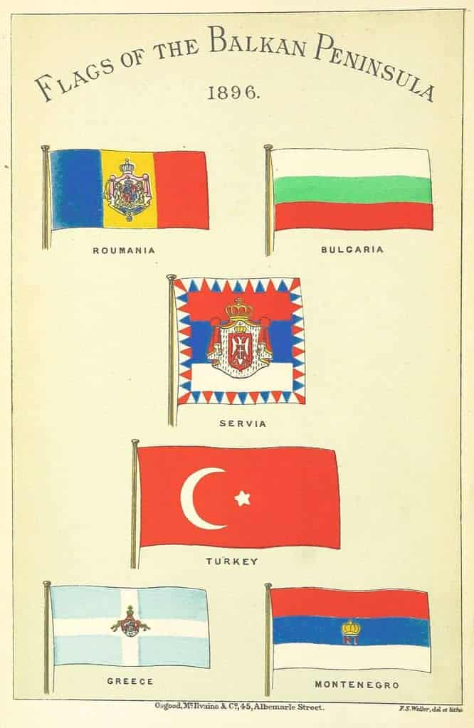 Balkan flags