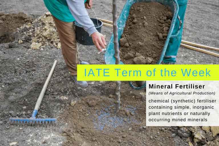 Mineral fertiliser banner