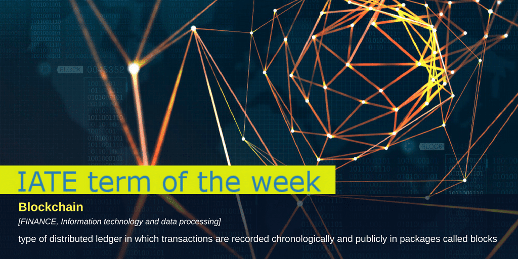 Term of the Week Blockchain