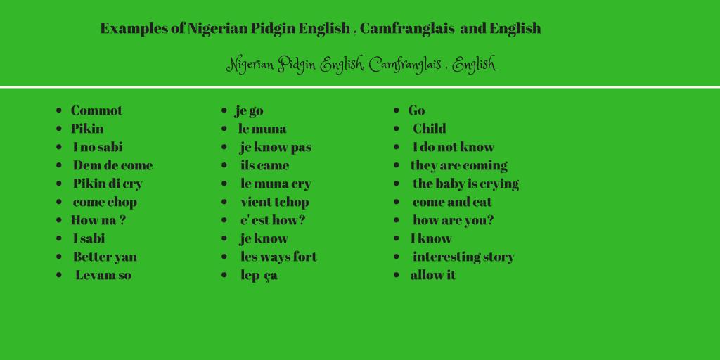 Nigerian pidgin English