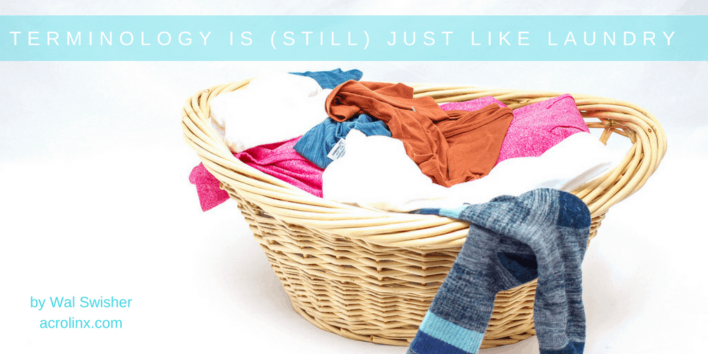 terminology and laundry