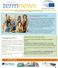 Terminology Newsletters Terminology Coordination Unit Dgtrad