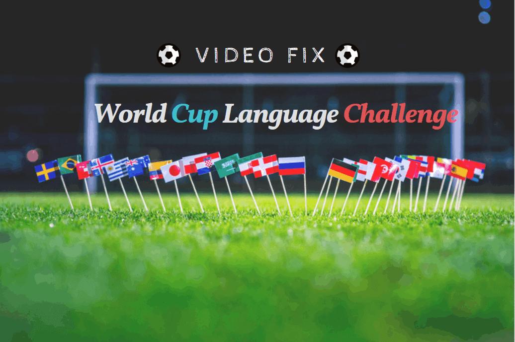 world cup language challenge
