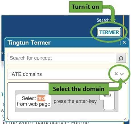 Turn it on and select the domain