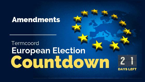 Termcoord European Election Countdown: Amendments