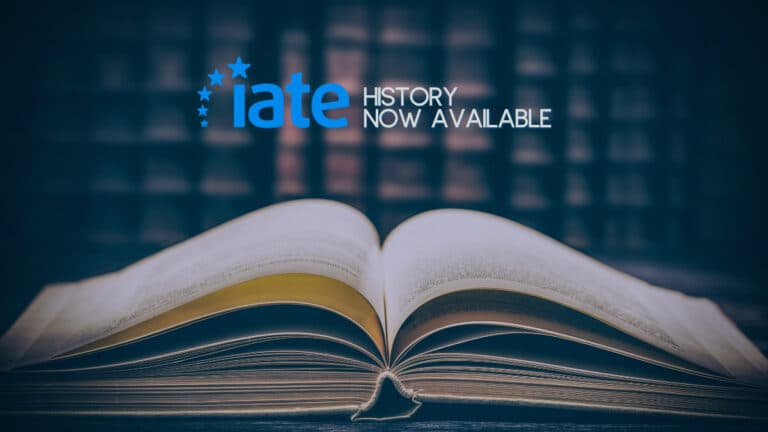 IATE History Now Available