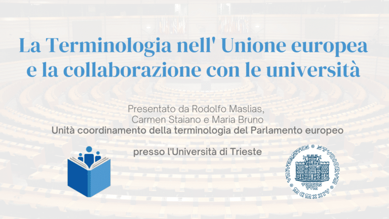 Terminology in the European Union and the collaborations with universities