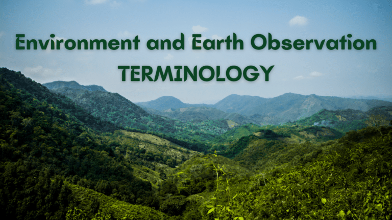 Environment and Earth Observation Terminology