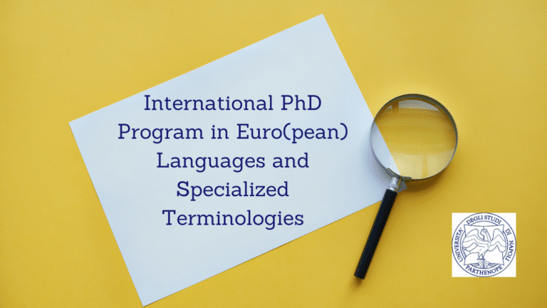 International PhD Program in Euro(pean) Languages and Specialized Terminologies