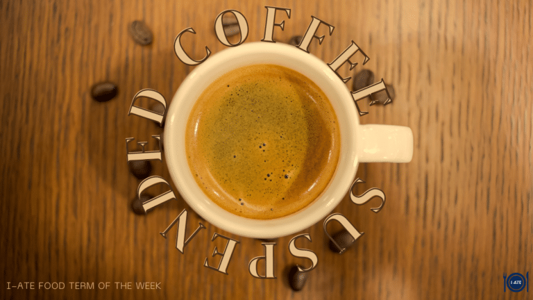 I-ATE Food Term of the Week: Suspended Coffee