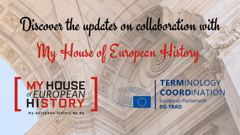 Discover the updates on collaboration with My House of European History!