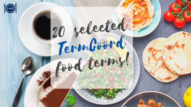 The brochure of twenty selected TermCoord food terms is out!